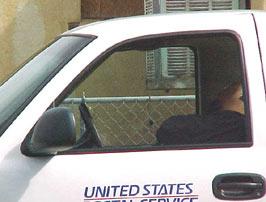 Postal Worker Asleep at the Wheel